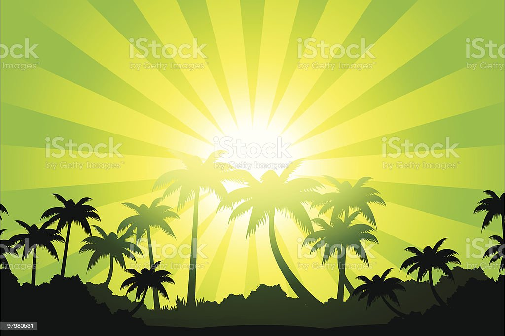 Tropical landscape royalty-free tropical landscape stock vector art & more images of backgrounds