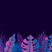 A lush tropical leaf background. File is built in CMYK for optimal printing.