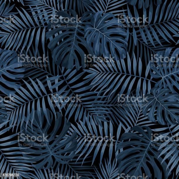 Tropical leaf pattern in dark indigo blue vector id876798724?b=1&k=6&m=876798724&s=612x612&h=h6mn vv9lno cmmrryyphsjhynl1xsf5ccb3xatno 8=