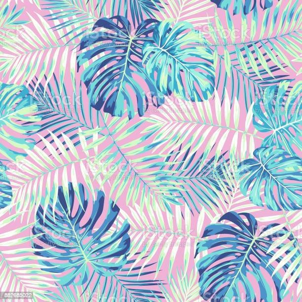 Tropical leaf pattern in pink and blue vector id882685022?b=1&k=6&m=882685022&s=612x612&h=emmkigyh ysxozimhfvdxcd b5flaiwwvxc6im2tuig=