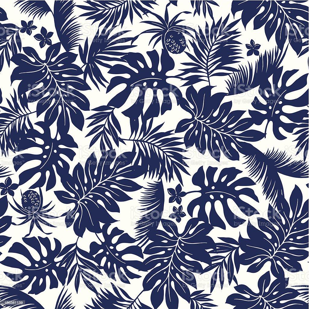 Hoja de tropical - ilustración de arte vectorial