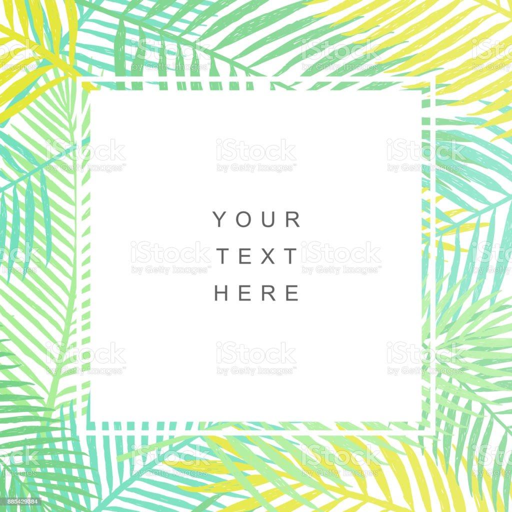Tropical leaves background. Modern design royalty-free tropical leaves background modern design stock illustration - download image now