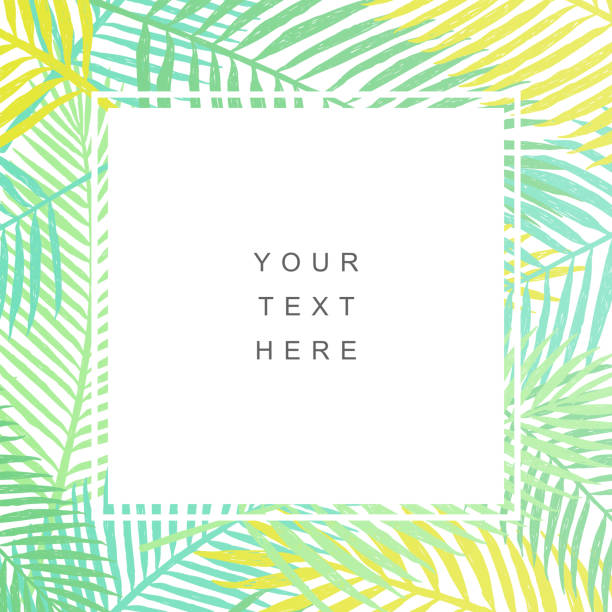 tropical leaves background. modern design - bohemian fashion stock illustrations, clip art, cartoons, & icons