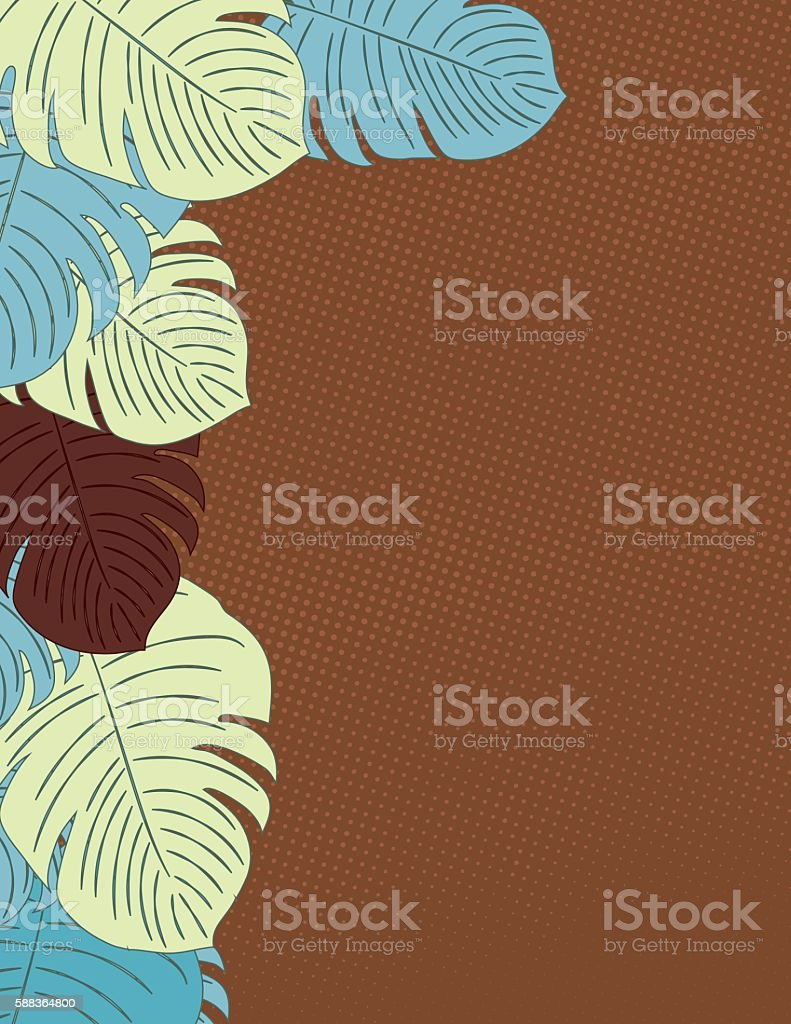 Hojas de fondo Tropical - ilustración de arte vectorial