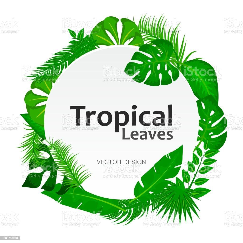 Ilustración de Tropical Sale De Fondo Con Señal Redonda Blanca Con ...