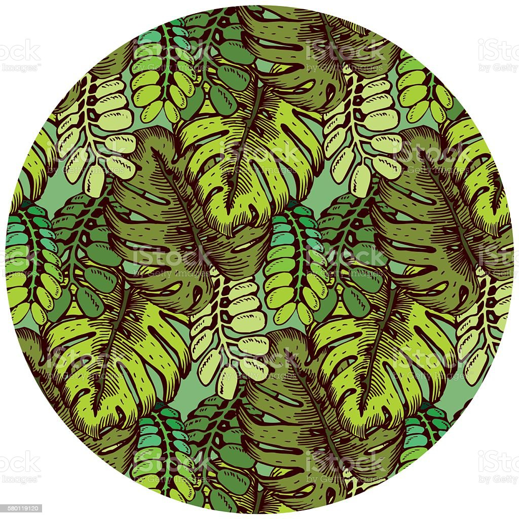 tropical leaves pattern summer jungle theme texture background