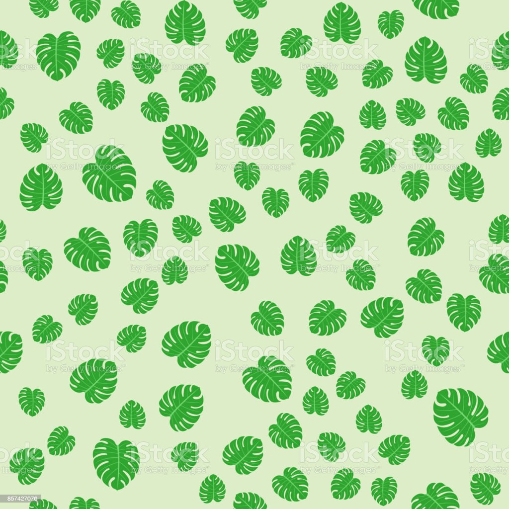 tropical leaves summer jungle green palm leaf exotic seamless