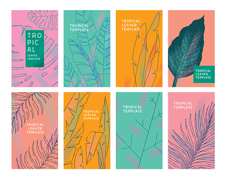 Tropical leaves templates