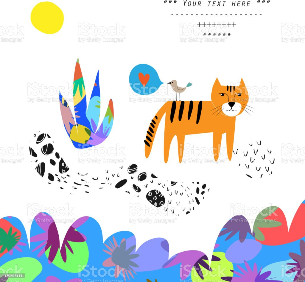 Tropical life. royalty-free stock vector art