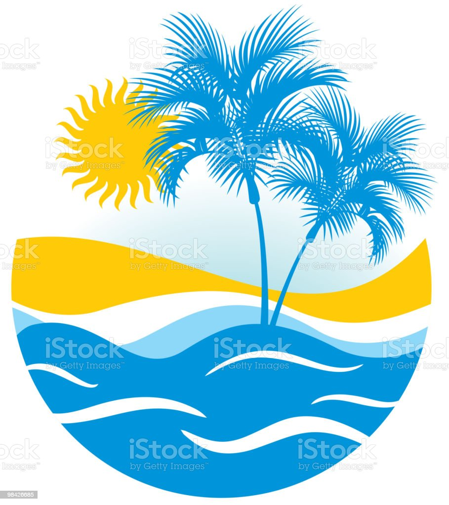 Tropical marine landscape royalty-free tropical marine landscape stock vector art & more images of beach