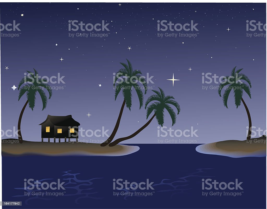 Tropical night royalty-free tropical night stock vector art & more images of beach