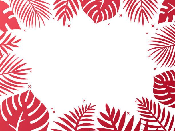 Tropical Palm Background Frame vector art illustration
