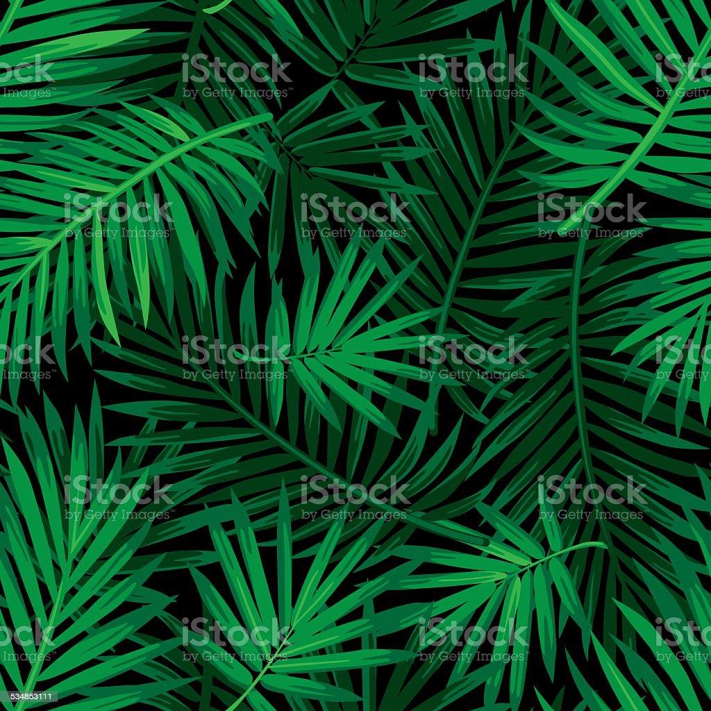 Tropical Palm leaf pattern