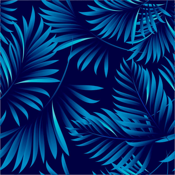 Tropischen Palmblätter, Dschungel Blätter. Vektor Blumenmuster Hintergrund. – Vektorgrafik