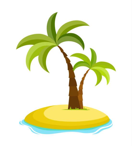 Best Shadow Palm Trees Tropical Beach Cartoons ...