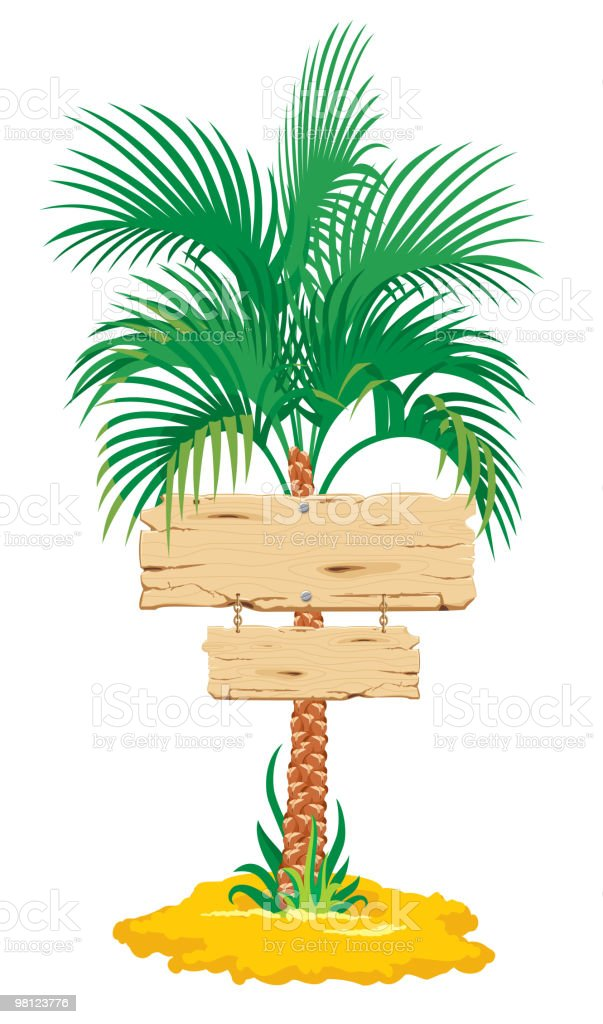 tropical palm tree royalty-free tropical palm tree stock vector art & more images of beach