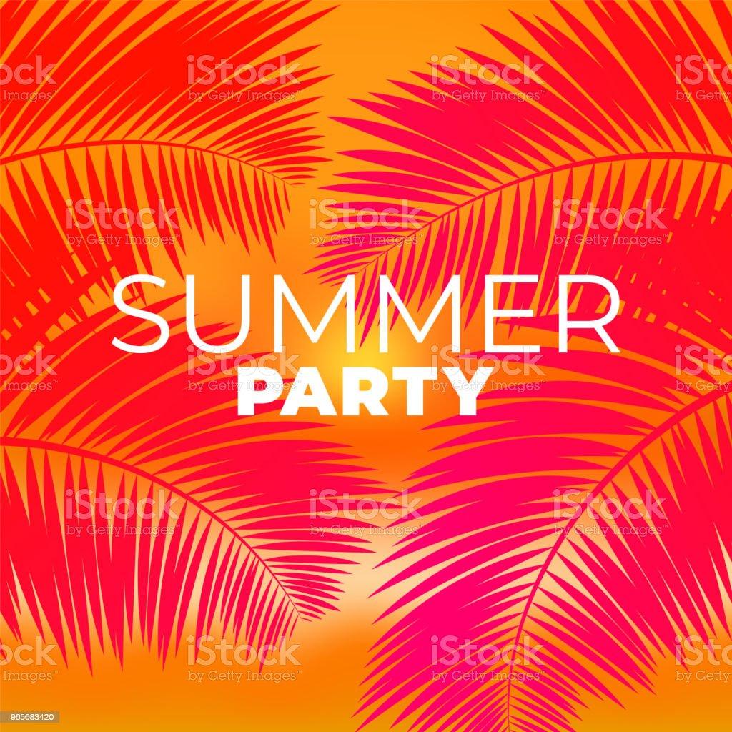 ilustração de modelo de cartaz da festa tropical fundo de rave do