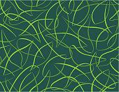 Outlines of tropical leaves pattern modern style / Patron de contour de feuilles dans un style moderne.