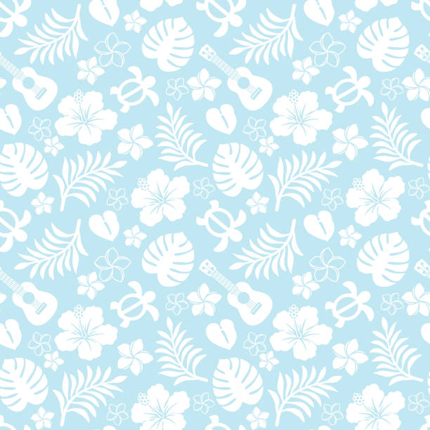 tropical pattern. summer tropical pattern. hawaiian culture stock illustrations