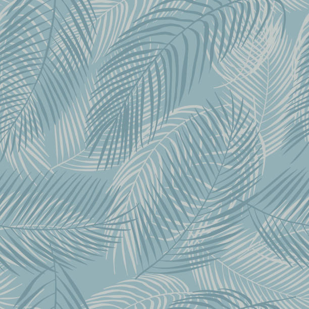 Tropical plants. Vector seamless pattern Hand drawn tropical plants. Vector seamless pattern idyllic stock illustrations