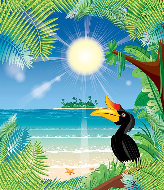 Tropical rainforest Vector Tropical rainforest lagbok stock illustrations
