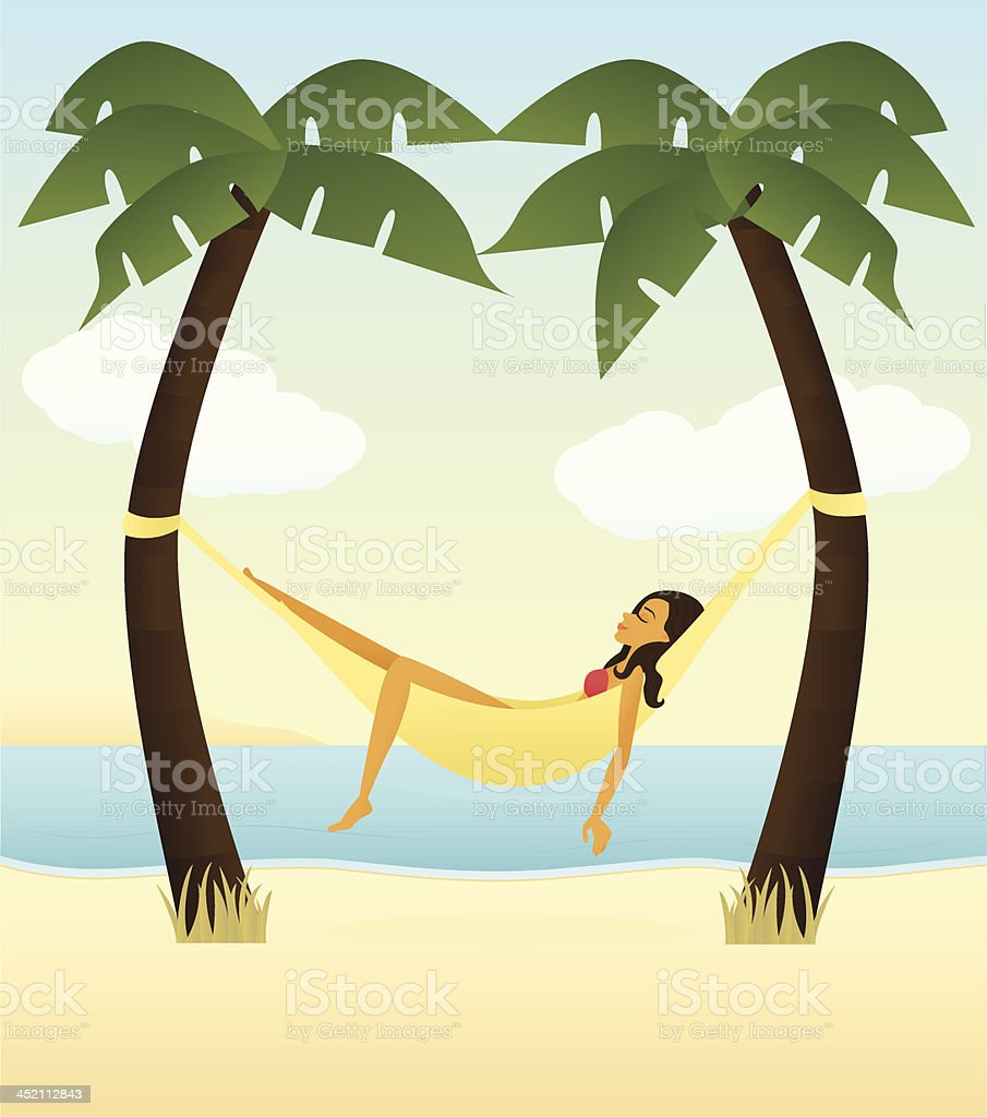 Tropical Relaxation vector art illustration