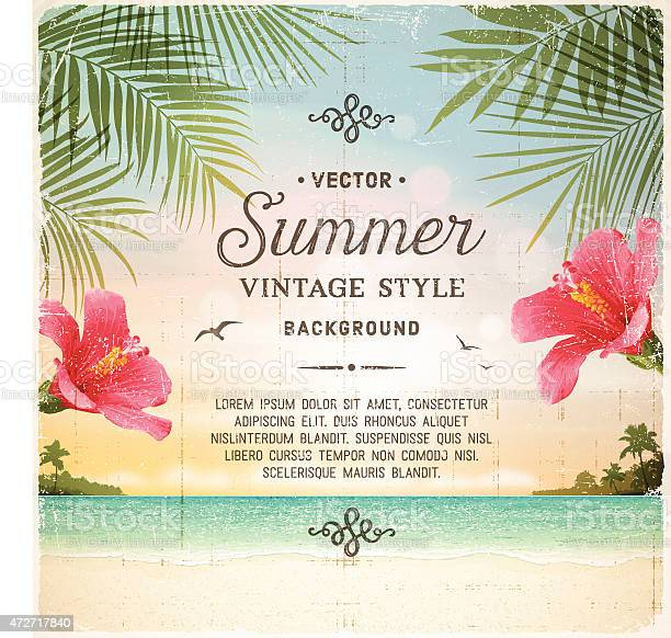 Tropical retro beach summer background vector id472717840?b=1&k=6&m=472717840&s=612x612&h=zlu 7n4aom4lr5ntfwxxvjnbpeggi3swwspub3wkc6i=