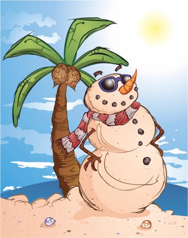 Tropical Sand Snow Man