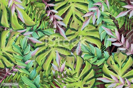 istock Tropical seamless pattern 1268647394