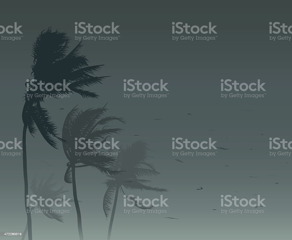Tropical storm vector art illustration