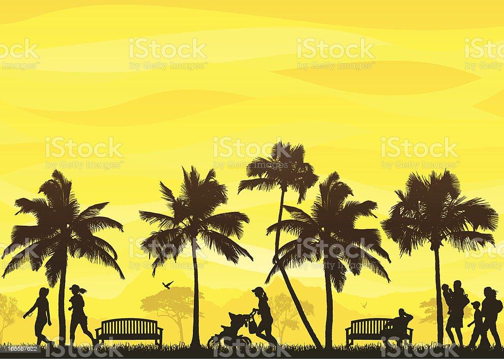 Tropical Stroll royalty-free stock vector art