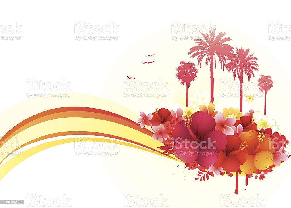 Tropical summer banner royalty-free stock vector art