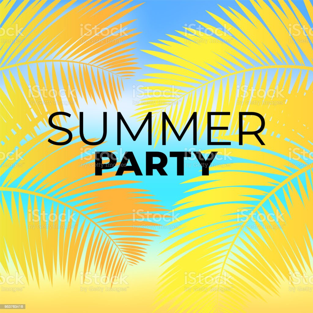 tropical summer beach party poster template stock vector art more
