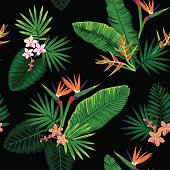 Tropical summer floral pattern