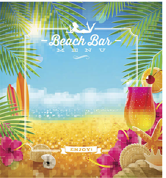 Royalty Free Tropical Drink Clip Art, Vector Images