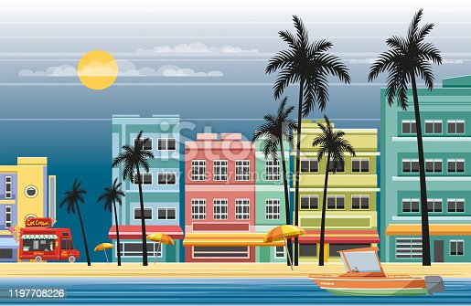istock Tropical town 1197708226