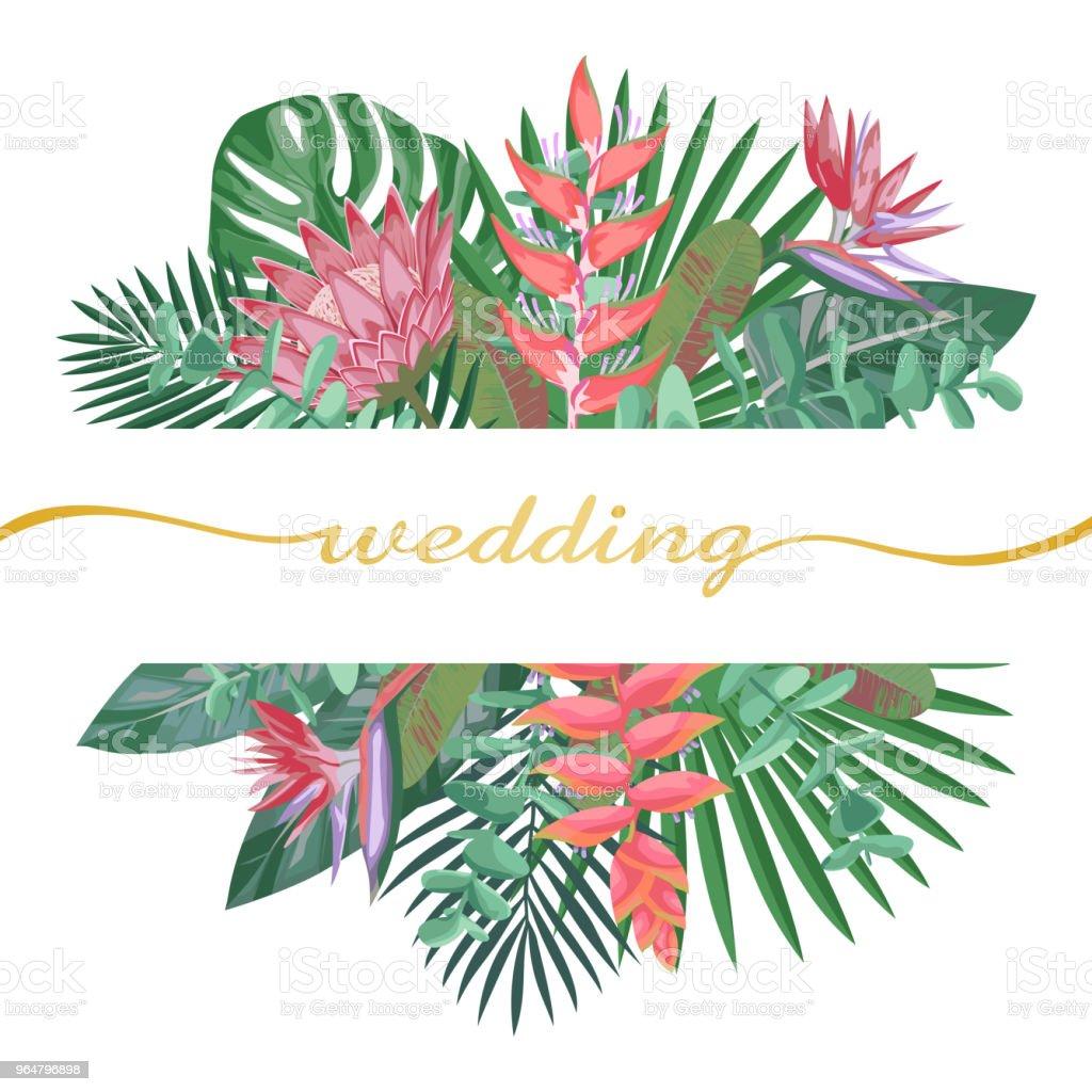 Tropical Wedding Invitation royalty-free tropical wedding invitation stock vector art & more images of art