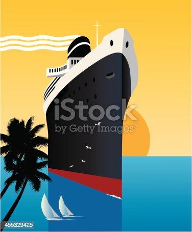 istock Tropics Cruise Ship 455329425