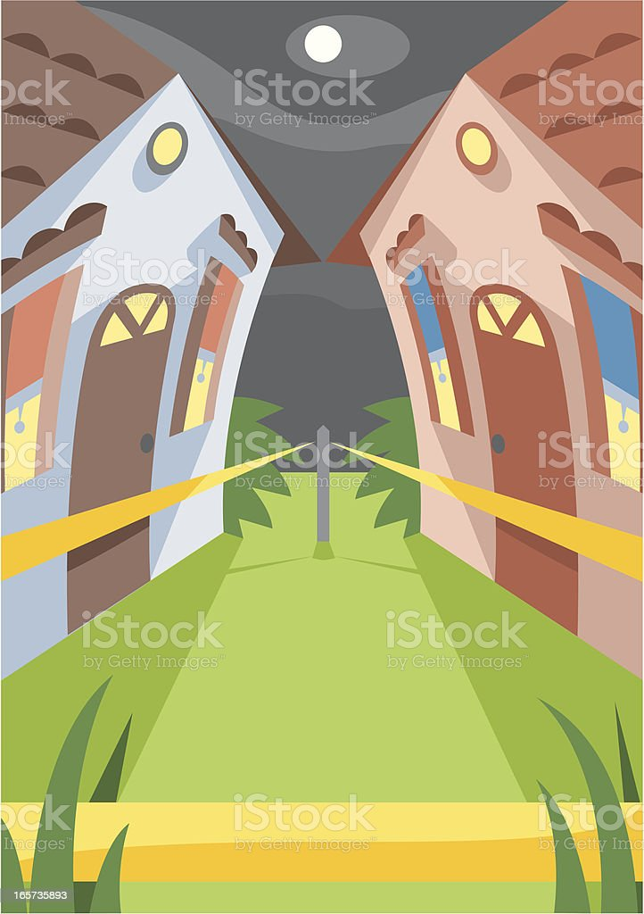 Troubled houses royalty-free stock vector art