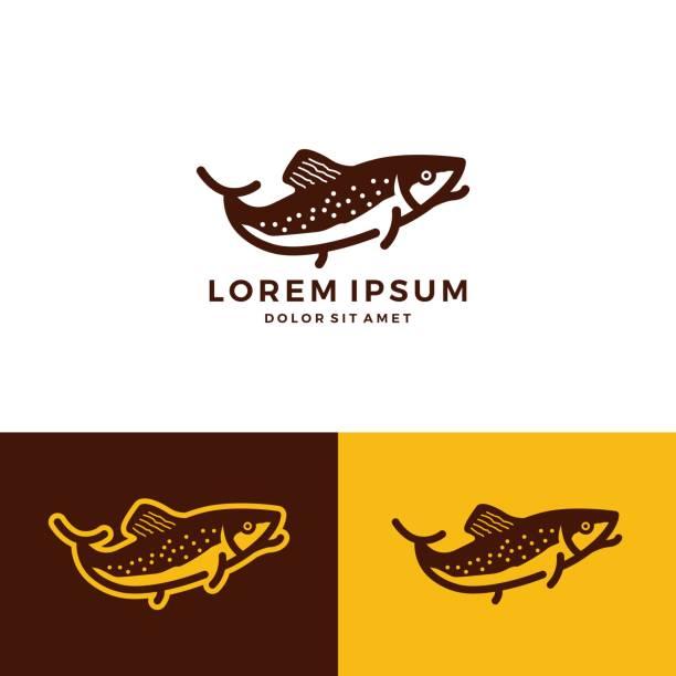 illustrazioni stock, clip art, cartoni animati e icone di tendenza di trout fish vector download - trout