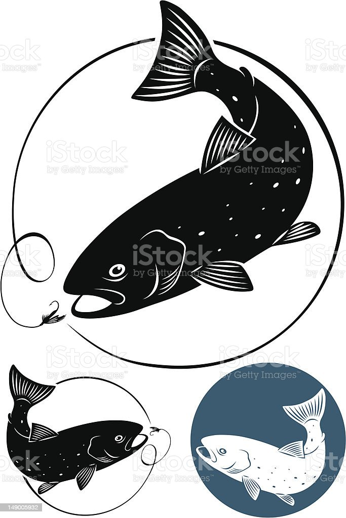 trout fish royalty-free trout fish stock vector art & more images of animal fin