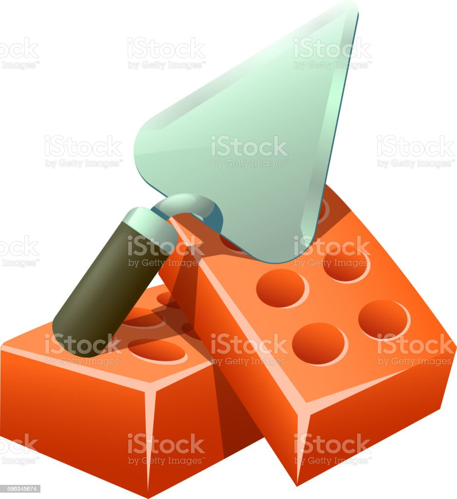trowel and bricks royalty-free trowel and bricks stock vector art & more images of brick