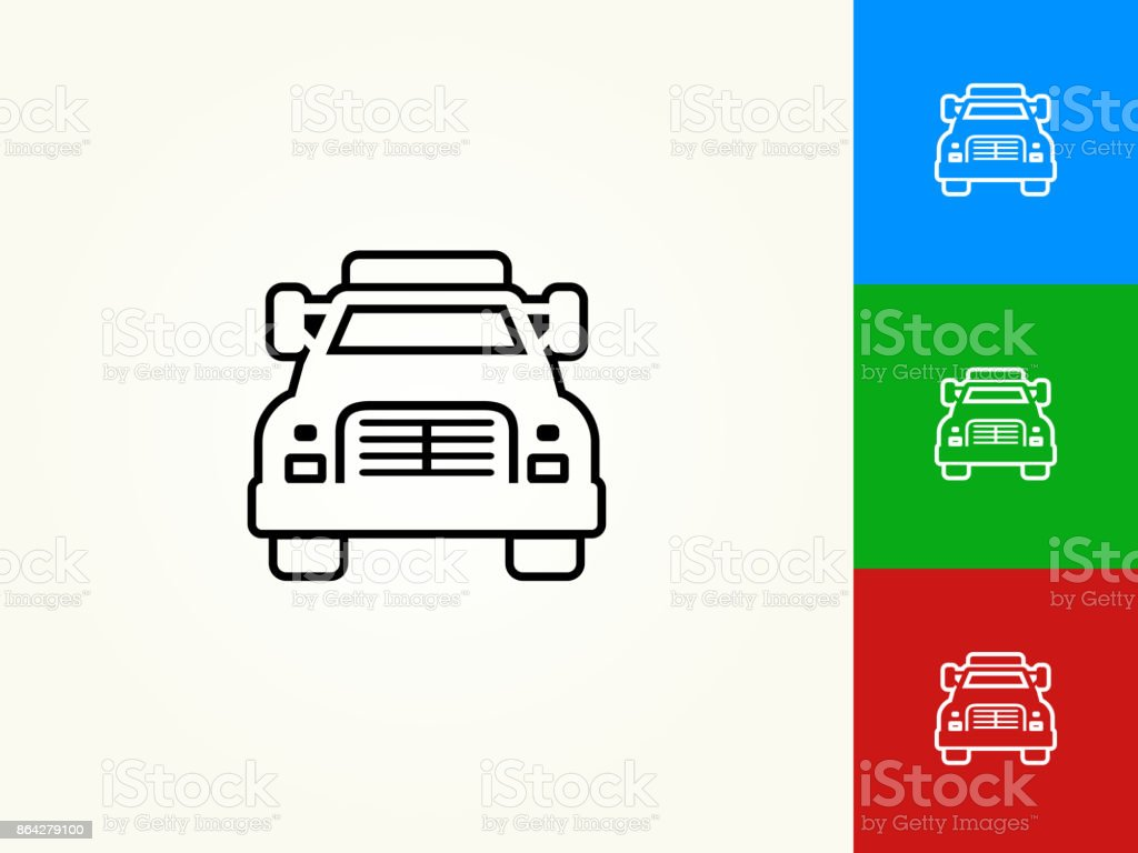 Truck Black Stroke Linear Icon royalty-free truck black stroke linear icon stock vector art & more images of black color