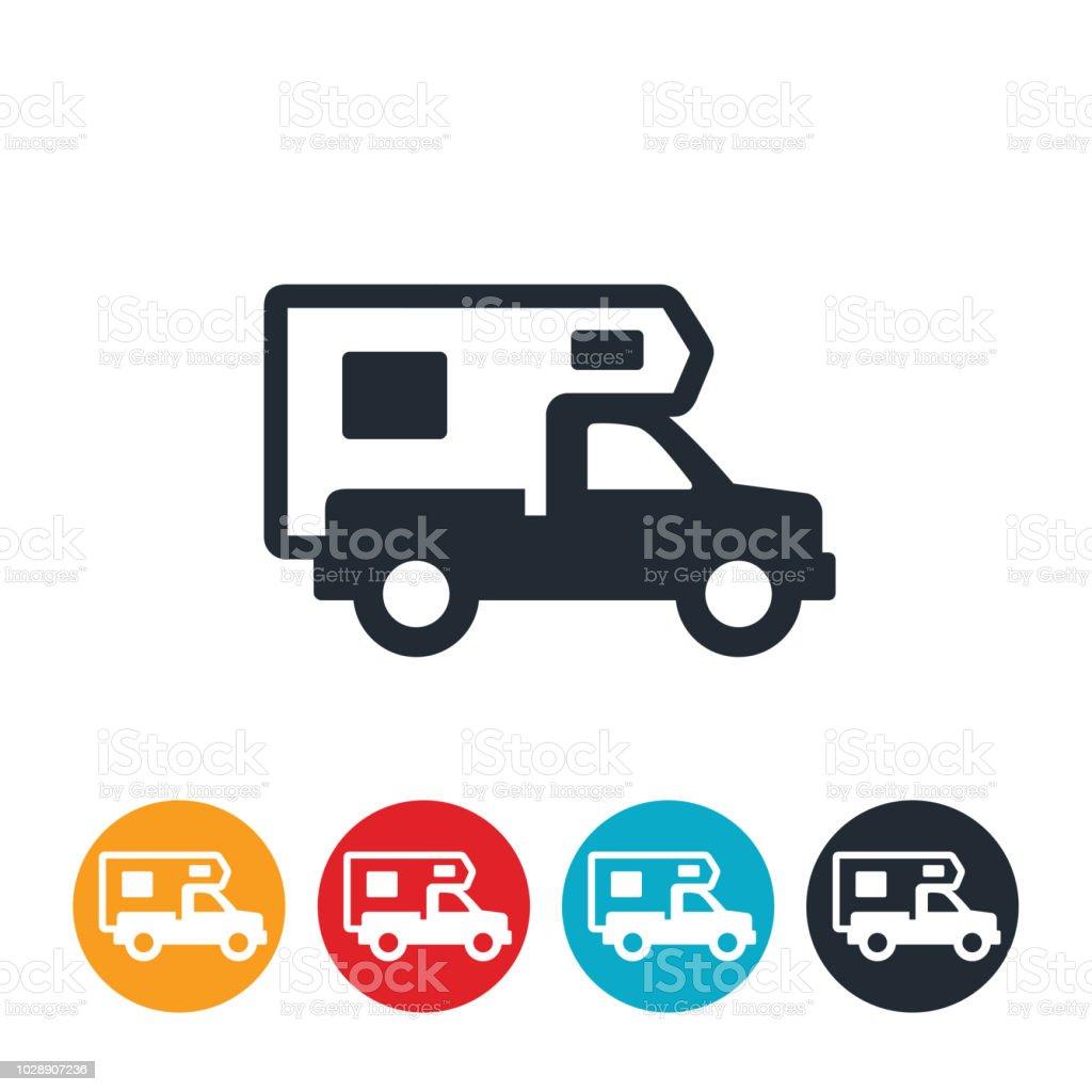 Truck Camper Icon vector art illustration