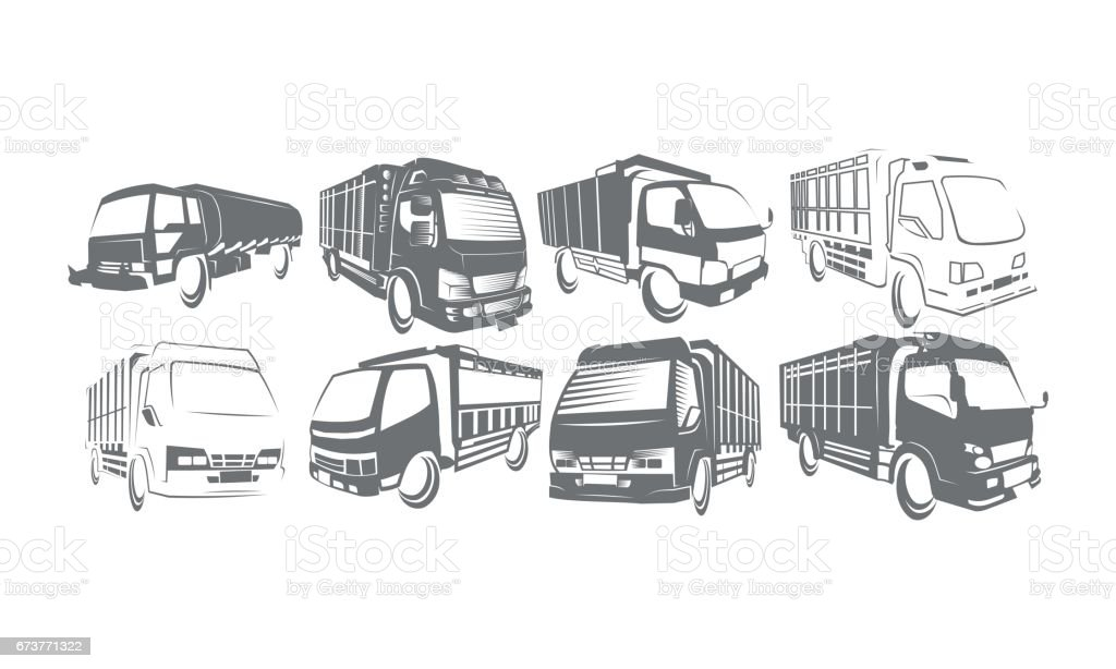 Camion voiture Collections Set camion voiture collections set – cliparts vectoriels et plus d'images de affaires finance et industrie libre de droits