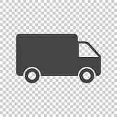 Truck, car vector illustration. Fast delivery service shipping icon. Simple flat pictogram for business, marketing or mobile app internet concept