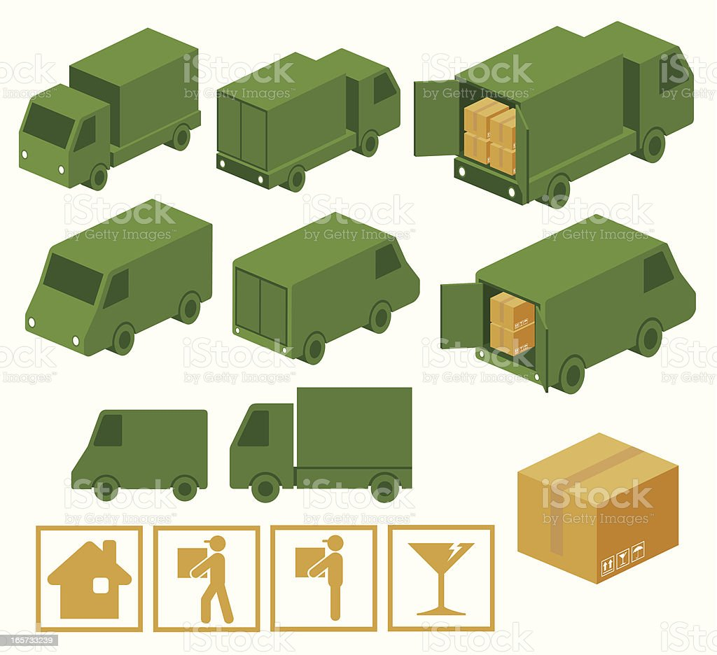 Truck Collection royalty-free stock vector art