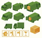 A collection of truck and cargo related items. Zip contains AI and PDF formats.