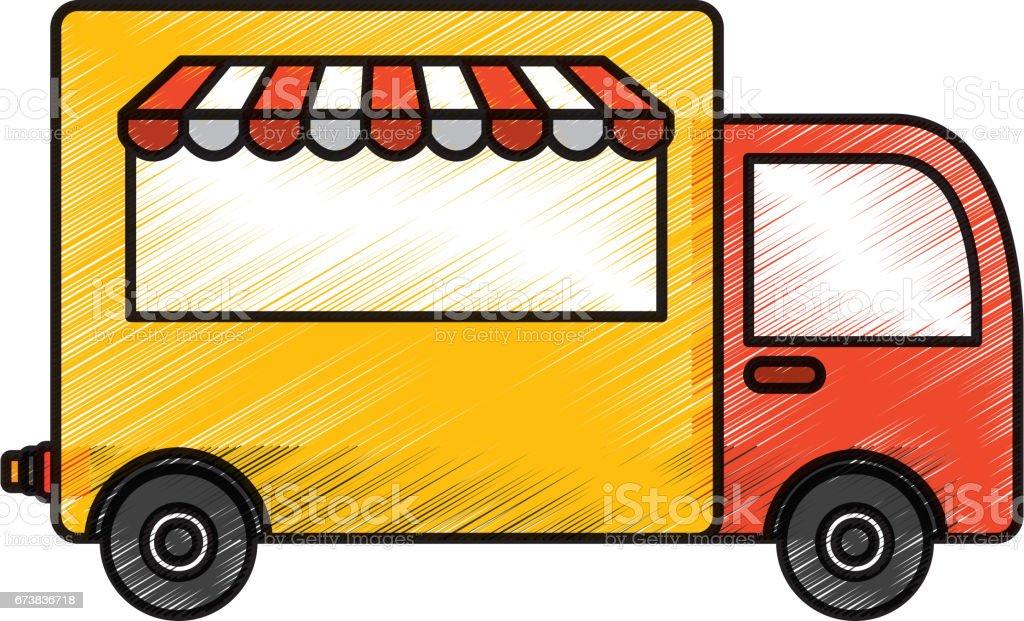 kamyon teslim gıda simgesi royalty-free kamyon teslim gıda simgesi stok vektör sanatı & araba - motorlu taşıt'nin daha fazla görseli