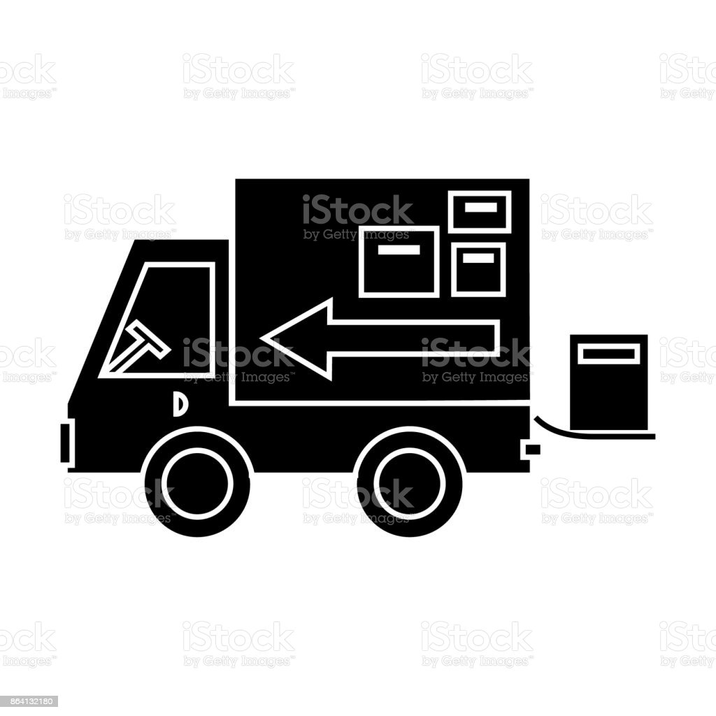 truck delivery shipping  icon, vector illustration, sign on isolated background royalty-free truck delivery shipping icon vector illustration sign on isolated background stock vector art & more images of arranging